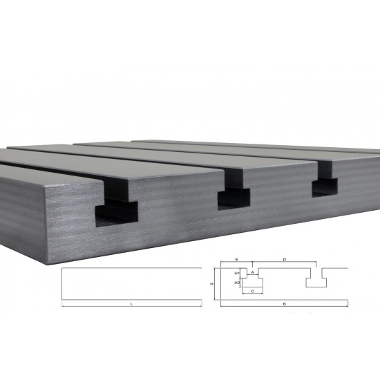 Steel T-slot plate 6020 Big Block